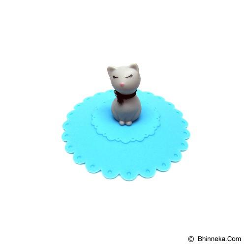 TOKYO1 Tutup Gelas Silicone Model Kucing [TKY11004KCC] - Blue - Gelas